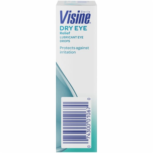 Visine Tears Dry Eye Relief Lubricant Eye Drops Perspective: right