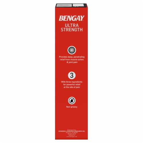 Bengay Ultra Strength Topical Analgesic Cream Perspective: right