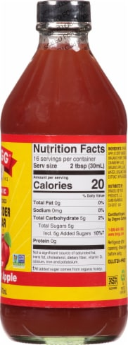 Bragg Organic Cranberry Apple Enhanced Apple Cider Vinegar Perspective: right