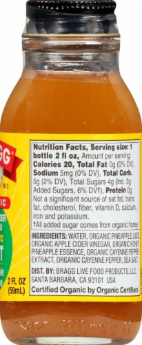 Bragg Organic ACV Pineapple Cayenne Shot Perspective: right