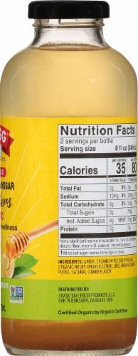 Bragg Organic Ginger Lemon Honey Refresher Perspective: right