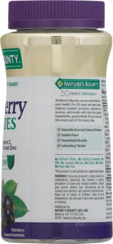 Nature's Bounty Elderberry Gummies 100mg 70 Count Perspective: right