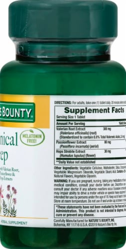 Nature's Bounty Botanical Sleep Tablets Perspective: right