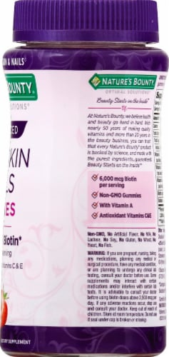 Nature's Bounty Advanced Hair Skin & Nails Gummies 80 Count Perspective: right