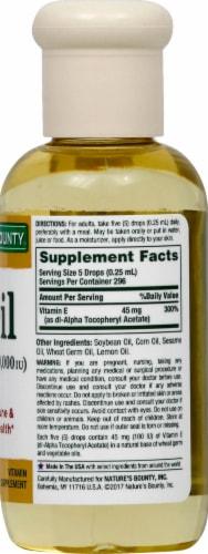 Nature's Bounty Vitamin E Oil Perspective: right