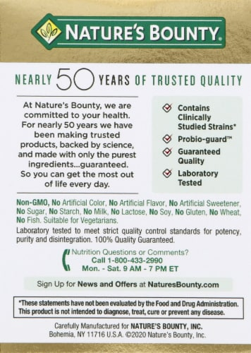 Nature's Bounty Probiotic 10 Capsules Perspective: right