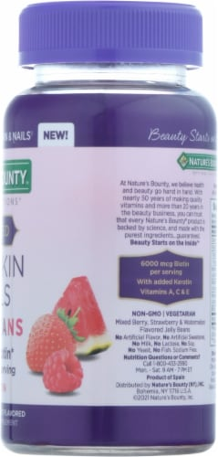 Nature's Bounty® Advanced Hair, Skin, and Nails Dietary Supplement Jelly Beans with Keratin Perspective: right