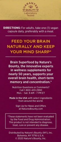 Nature's Bounty Brain Superfood Perspective: right