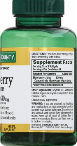 Nature's Bounty® Elderberry Softgels Perspective: right