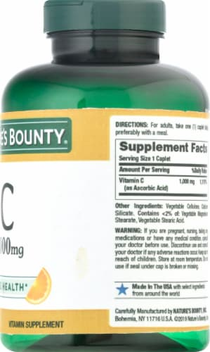 Nature's Bounty® Immune Health Vitamin C Supplement Caplets Perspective: right