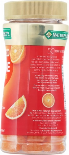 Nature's Bounty® Immune Orange Flavored Jelly Beans Perspective: right