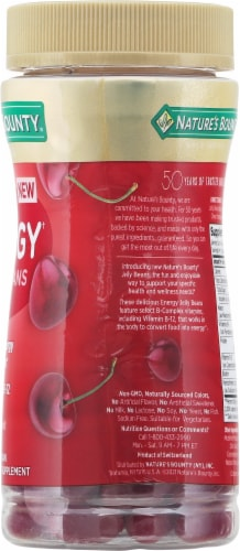 Nature's Bounty® Energy Cherry Flavored Jelly Beans Perspective: right