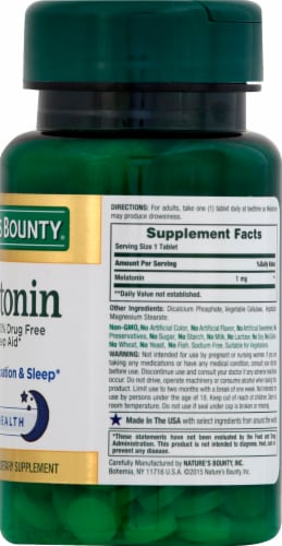 Nature's Bounty Melatonin Tablets 1mg Perspective: right