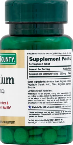 Nature's Bounty Selenium Tablets 200mcg Perspective: right