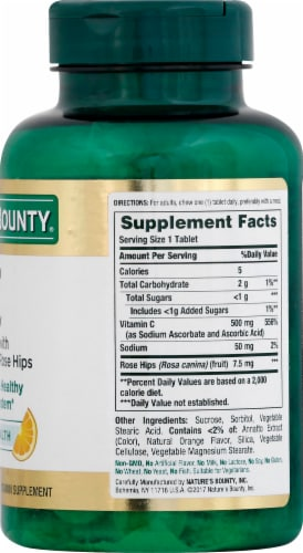 Nature's Bounty Orange Vitamin C Chewable Tablets 500mg Perspective: right