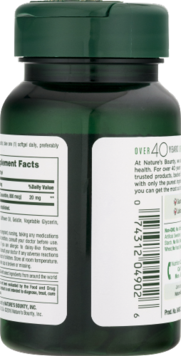 Nature's Bounty Lutein Rapid Release Softgels 20mg Perspective: right