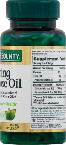 Nature's Bounty Evening Primrose Oil Rapid Release Softgels 1000mg Perspective: right