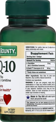 Nature's Bounty Co Q-10 Softgels 100mg Perspective: right