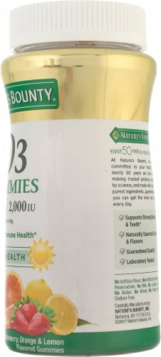 Nature's Bounty® Strawberry Orange & Lemon Flavored Vitamin D3 Gummies Perspective: right