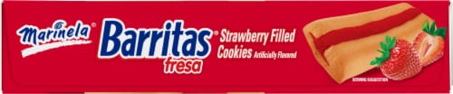 Marinela Barritas Fresa Strawberry Filled Cookies Perspective: right