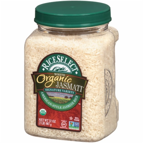 RiceSelect Organic Jasmati Long Grain Rice Perspective: right
