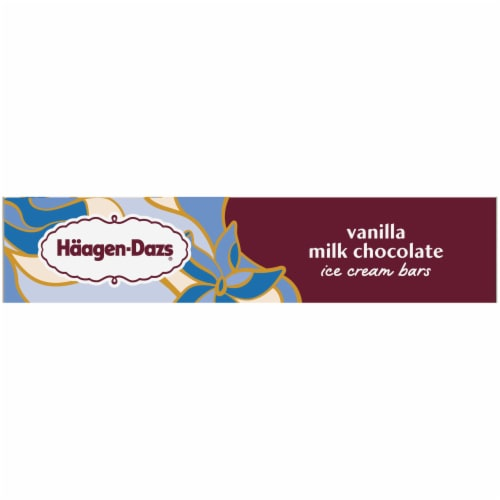 Haagen-Dazs Gluten Free Vanilla Milk Chocolate Ice Cream Bars Perspective: right