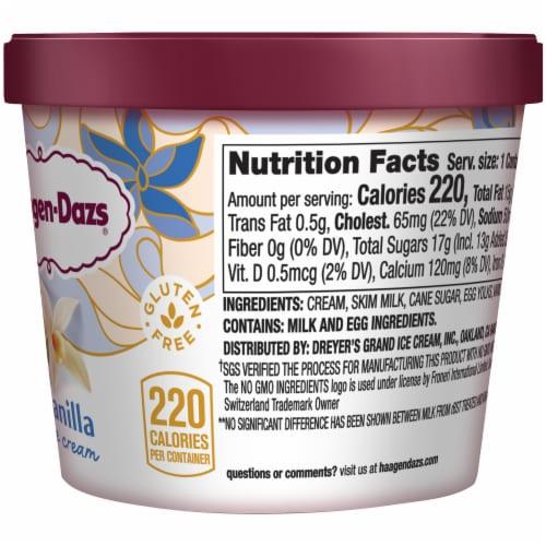 Haagen-Dazs Gluten Free Vanilla Ice Cream Cup Perspective: right