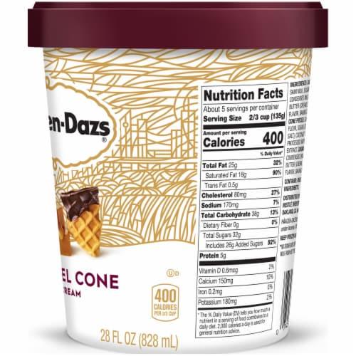 Haagen-Dazs Caramel Cone Ice Cream Perspective: right