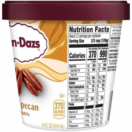 Haagen-Dazs Gluten Free Butter Pecan Ice Cream Perspective: right
