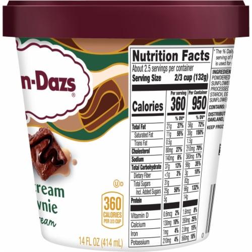 Haagen-Dazs Spirits Irish Cream Brownie Ice Cream Perspective: right