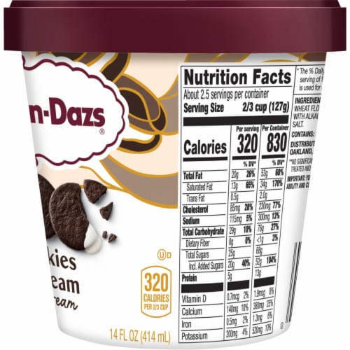 Haagen-Dazs Cookies & Cream Ice Cream Perspective: right