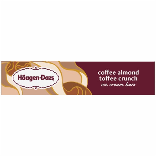 Haagen-Dazs Coffee Almond Crunch Ice Cream Bars Perspective: right