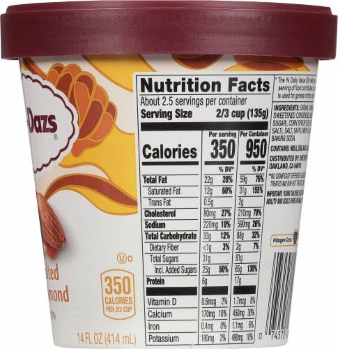 Haagen-Dazs Honey Salted Caramel Almond Ice Cream Perspective: right