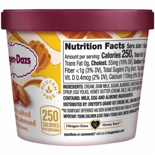 Haagen-Dazs Gluten Free Honey Salted Caramel Almond Ice Cream Perspective: right