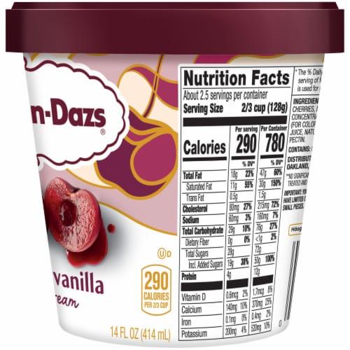 Haagen-Dazs® Cherry Vanilla Ice Cream Perspective: right