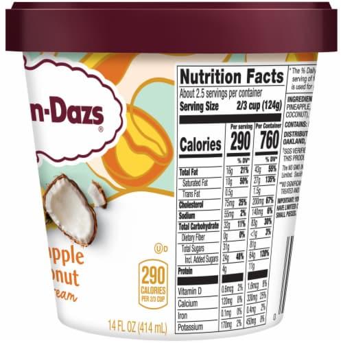 Haagen-Dazs Pineapple Coconut Ice Cream Perspective: right