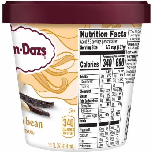 Haagen-Dazs Vanilla Bean Ice Cream Perspective: right