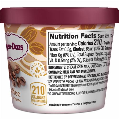 Haagen-Dazs Gluten Free Coffee Ice Cream Cup Perspective: right