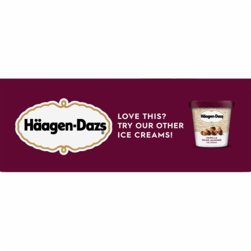 Haagen-Dazs Vanilla Milk Chocolate Almond Snack Size Ice Cream Bars Perspective: right