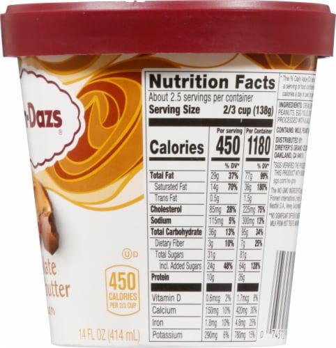 Haagen-Dazs Chocolate Peanut Butter Ice Cream Perspective: right