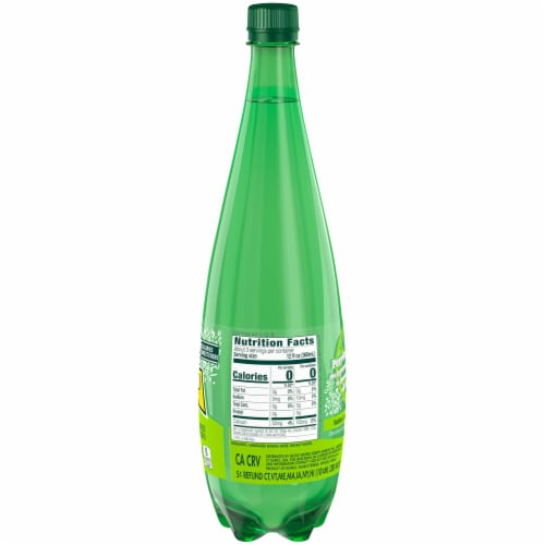Perrier Lime Flavored Carbonated Mineral Water Perspective: right