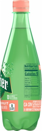 Perrier Pink Grapefruit Sparkling Natural Mineral Water Perspective: right