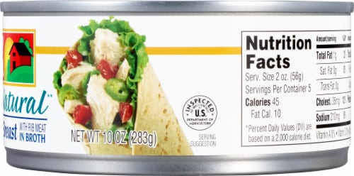Valley Fresh 100% Natural Canned Chicken Breast Perspective: right