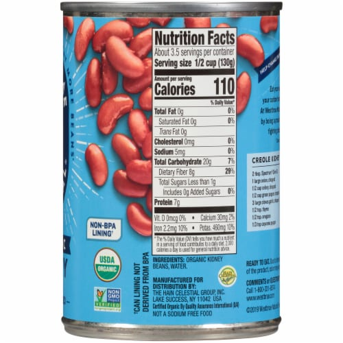 Westbrae Natural Organic Kidney Beans Perspective: right