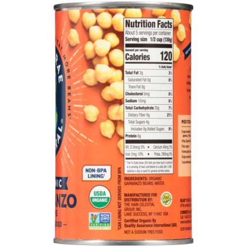 Westbrae Natural Organic Garbanzo Beans Perspective: right