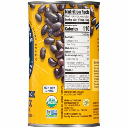 Westbrae Natural Organic Black Beans Perspective: right