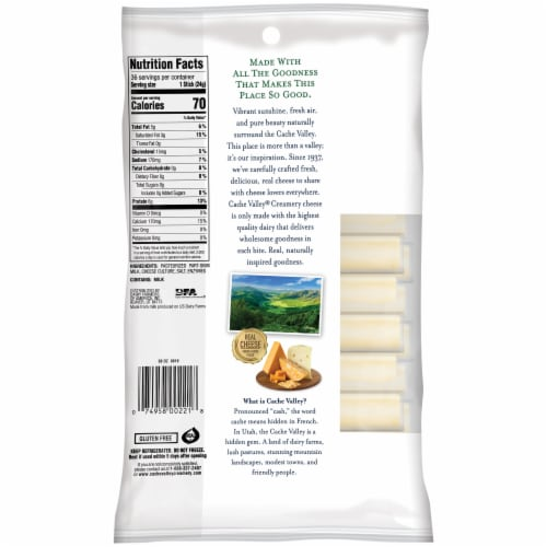 Cache Valley Mozzarella String Cheese Sticks 36 Count Perspective: right
