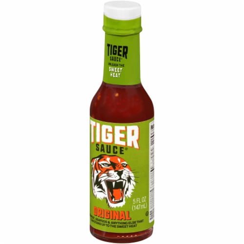 Try Me Tiger Sauce Original Sweet Heat Hot Sauce Perspective: right
