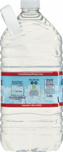 Crystal Geyser Alpine Spring Water Perspective: right