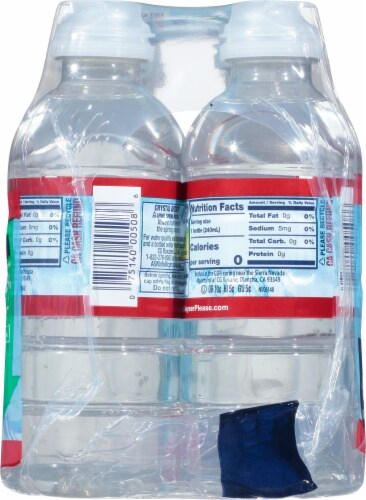 Crystal Geyser Natural Alpine Spring Water Perspective: right